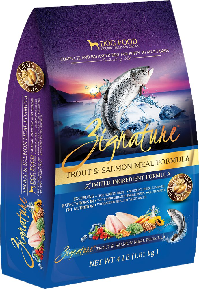 Zignature Grain-Free Trout & Salmon Meal Limited Ingredient Formula Dry Dog Food 27lbs