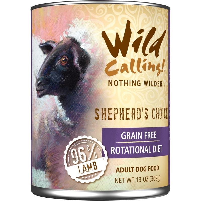 Wild Calling Shepherd's Choice 96% Lamb Grain-Free Canned Dog Food 13z, 12