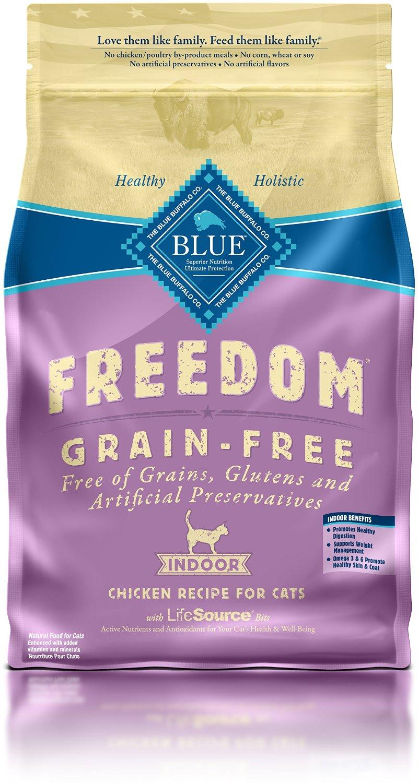 Blue Buffalo Freedom Indoor Adult Chicken Recipe Grain-Free Dry Cat Food 5lbs