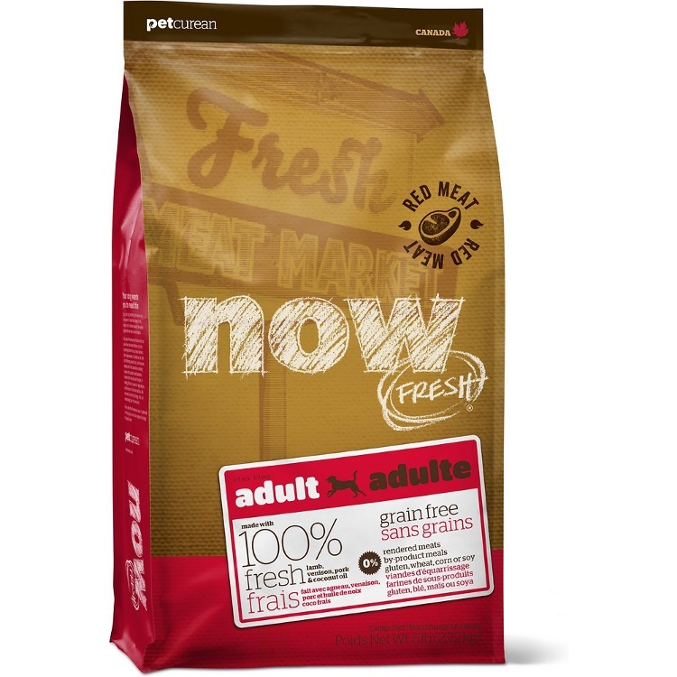 Petcurean Now Fresh Grain-Free Adult Red Meat Recipe Dry Dog Food 6lbs