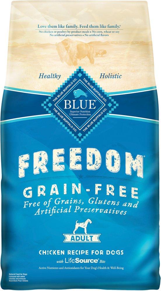 Blue Buffalo Freedom Adult Chicken Recipe Grain-Free Dry Dog Food 4lbs