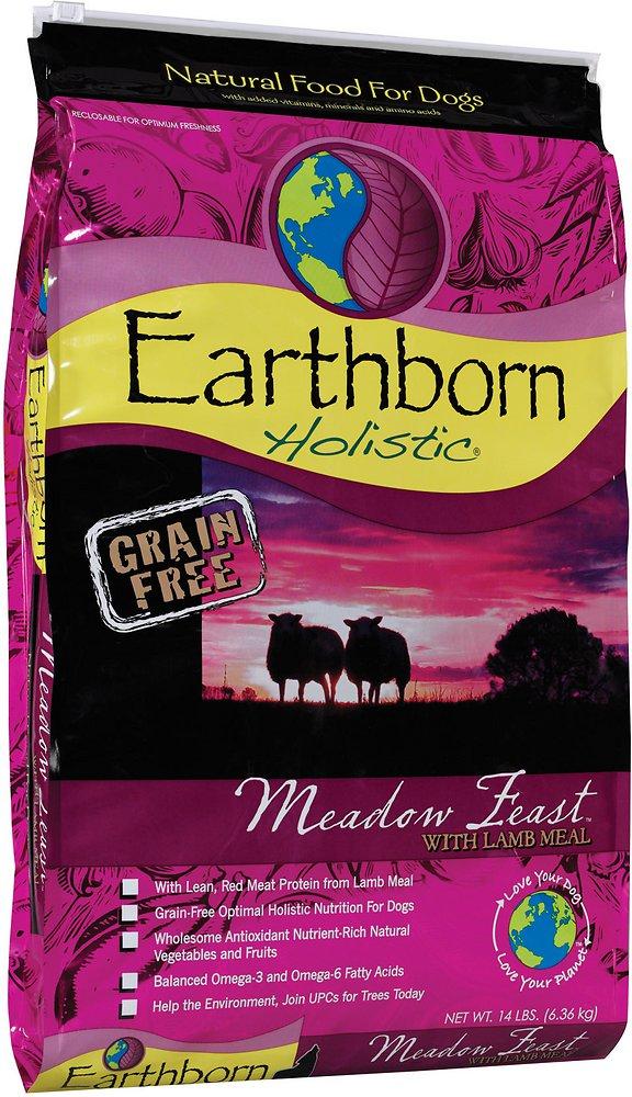 Earthborn Holistic Meadow Feast Grain-Free Natural Dry Dog Food 14lbs
