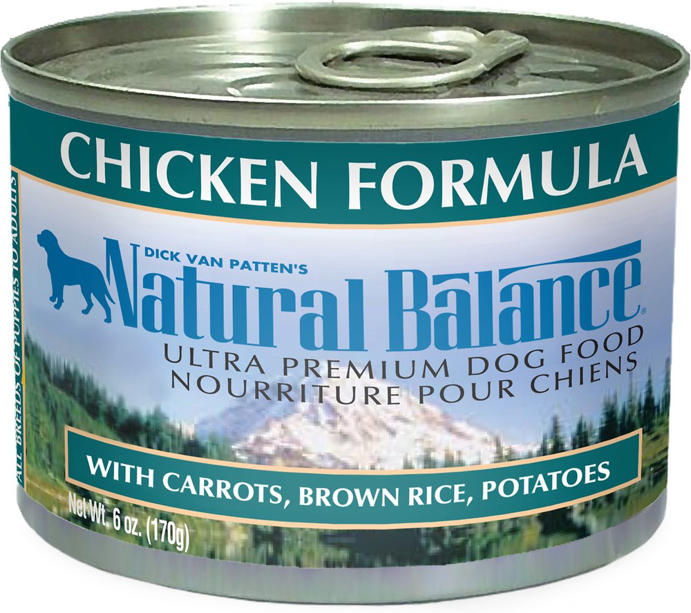 Natural Balance Ultra Premium Chicken Formula Canned Dog Food 6z, 12