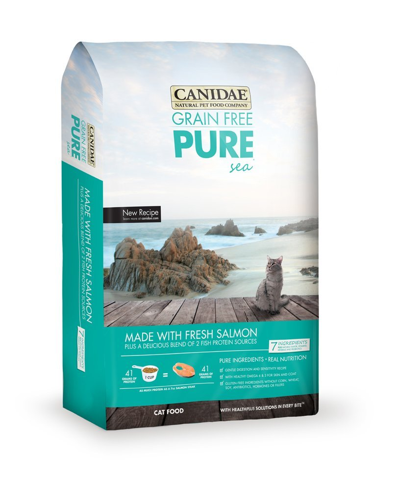 Canidae Grain-Free PURE Sea with Salmon Dry Cat Food 5lbs