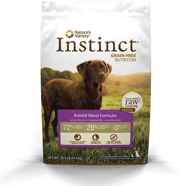 Nature's Variety Instinct Grain-Free Rabbit Meal Formula Dry Dog Food 20lbs