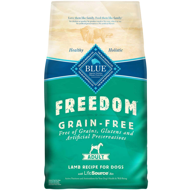 Blue Buffalo Freedom Adult Lamb Recipe Grain-Free Dry Dog Food 11lbs