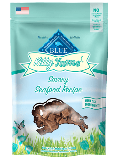 Blue Buffalo Kitty Yums Savory Seafood Recipe Cat Treats 2z