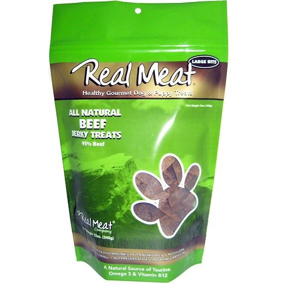 The Real Meat Company Beef Jerky Bitz Dog Treats 12z