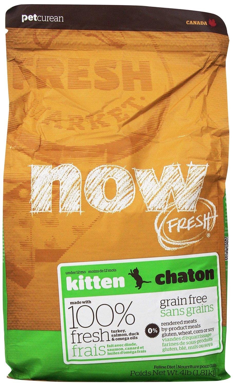 Petcurean Now Fresh Grain-Free Kitten Recipe Dry Cat Food 4lbs