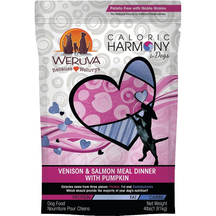 Weruva Caloric Harmony Venison & Salmon Meal Dinner with Pumpkin Dry Dog Food 4lbs