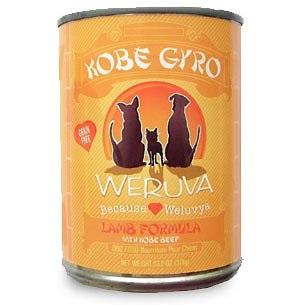 Weruva Kobe Gyro Lamb & Wagyu Beef Formula Canned Dog Food 13.2z, 12