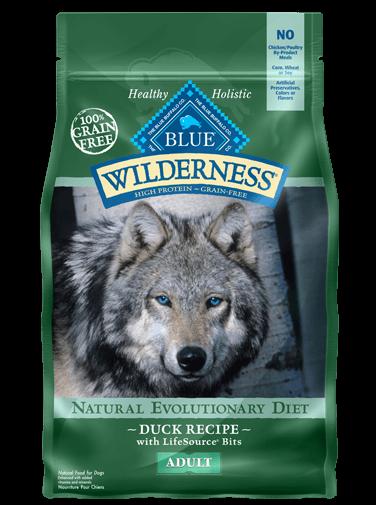 Blue Buffalo Wilderness Duck Recipe Grain-Free Dry Dog Food 11lbs