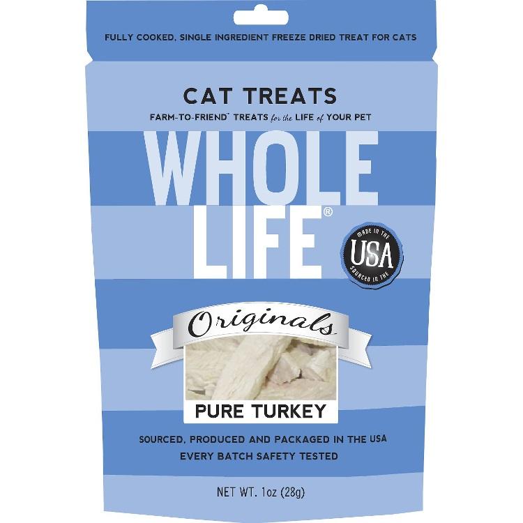 Whole Life Pure Turkey Freeze-Dried Cat Treats 1z