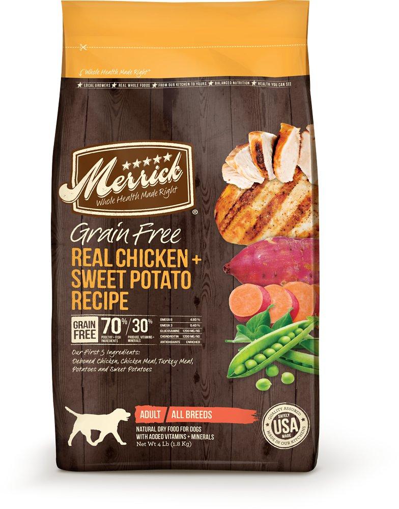 Merrick Grain-Free Real Chicken + Sweet Potato Recipe Dry Dog Food 4lbs