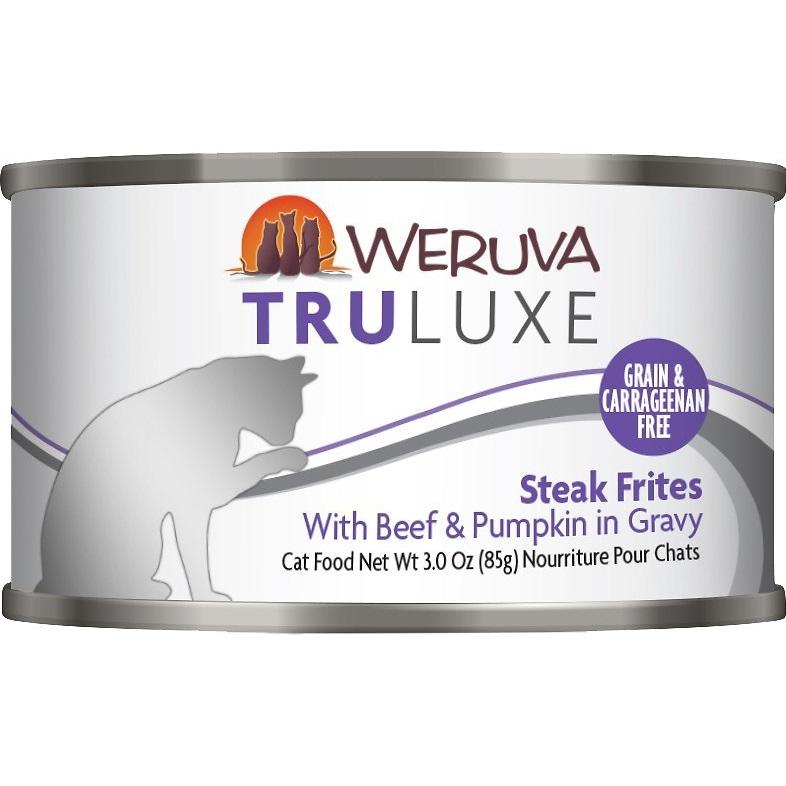 Weruva Truluxe Grain-Free Steak Frites with Beef & Pumpkin in Gravy Canned Cat Food 3z, 24
