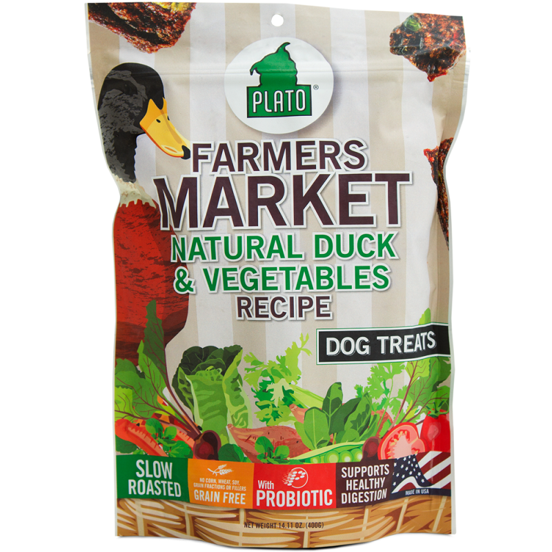 Plato Farmers Market Natural Duck & Vegetables Dog Treats 14.1z