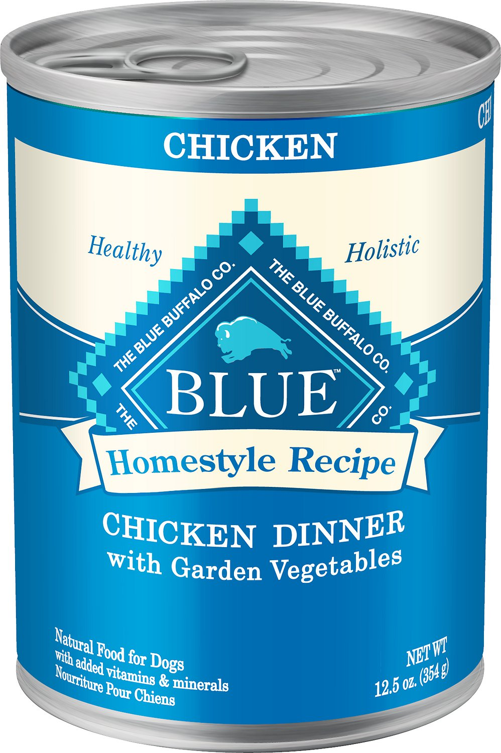 Blue Buffalo Homestyle Recipe Chicken Dinner with Garden Vegetables & Brown Rice Canned Dog Food 12.5z, 12
