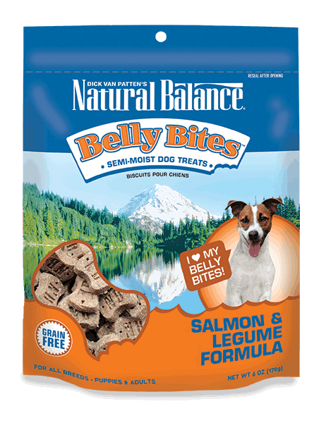 Natural Balance Belly Bites Salmon & Legume Treat 6z