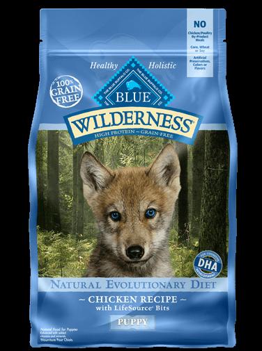 Blue Buffalo Wilderness Puppy Chicken Recipe Grain-Free Dry Dog Food 4.5lbs