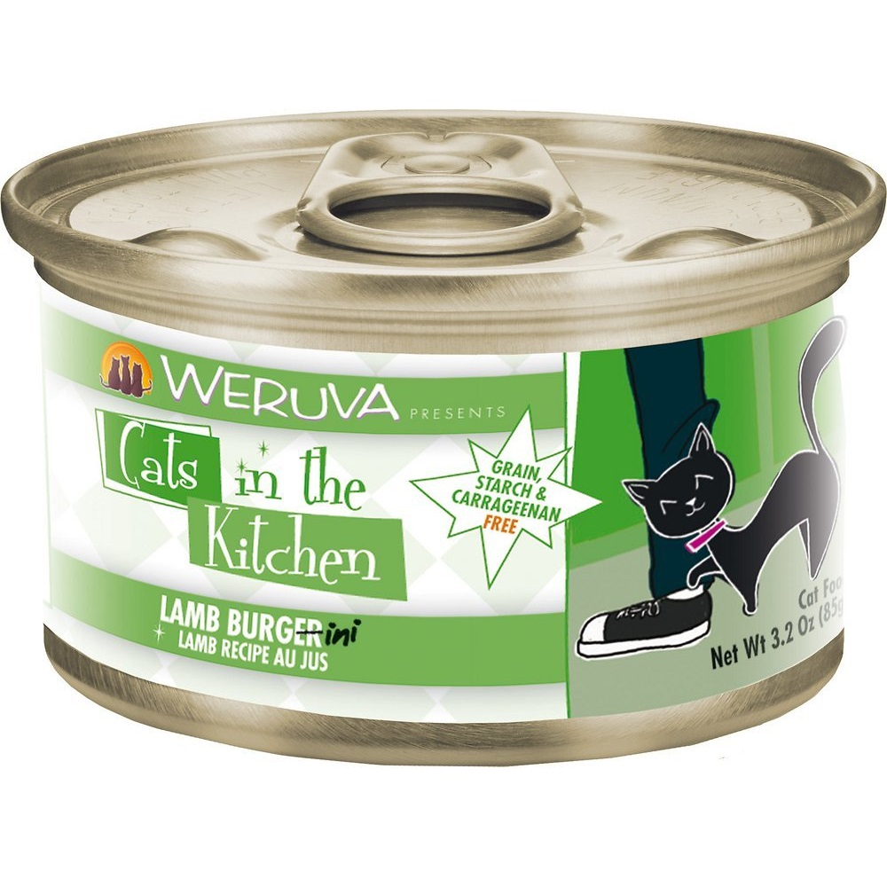Weruva Cats in the Kitchen 'Lamb Burgini' Lamb Au Jus Grain-Free Canned Cat Food 3.2z, 24