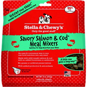 Stella & Chewy's Savory Salmon & Cod Meal Mixers Raw Freeze Dried Dog Food 9z