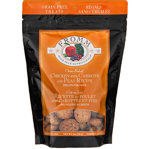 Fromm Four-Star Nutritionals Grain-Free Chicken with Carrots & Peas  Dog Treats 8z