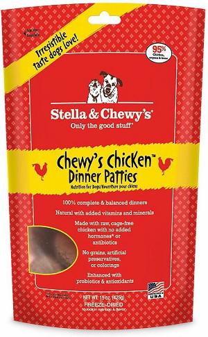 Stella & Chewy's Chewy's Chicken Dinner Patties Raw Freeze Dried Dog Food 15z