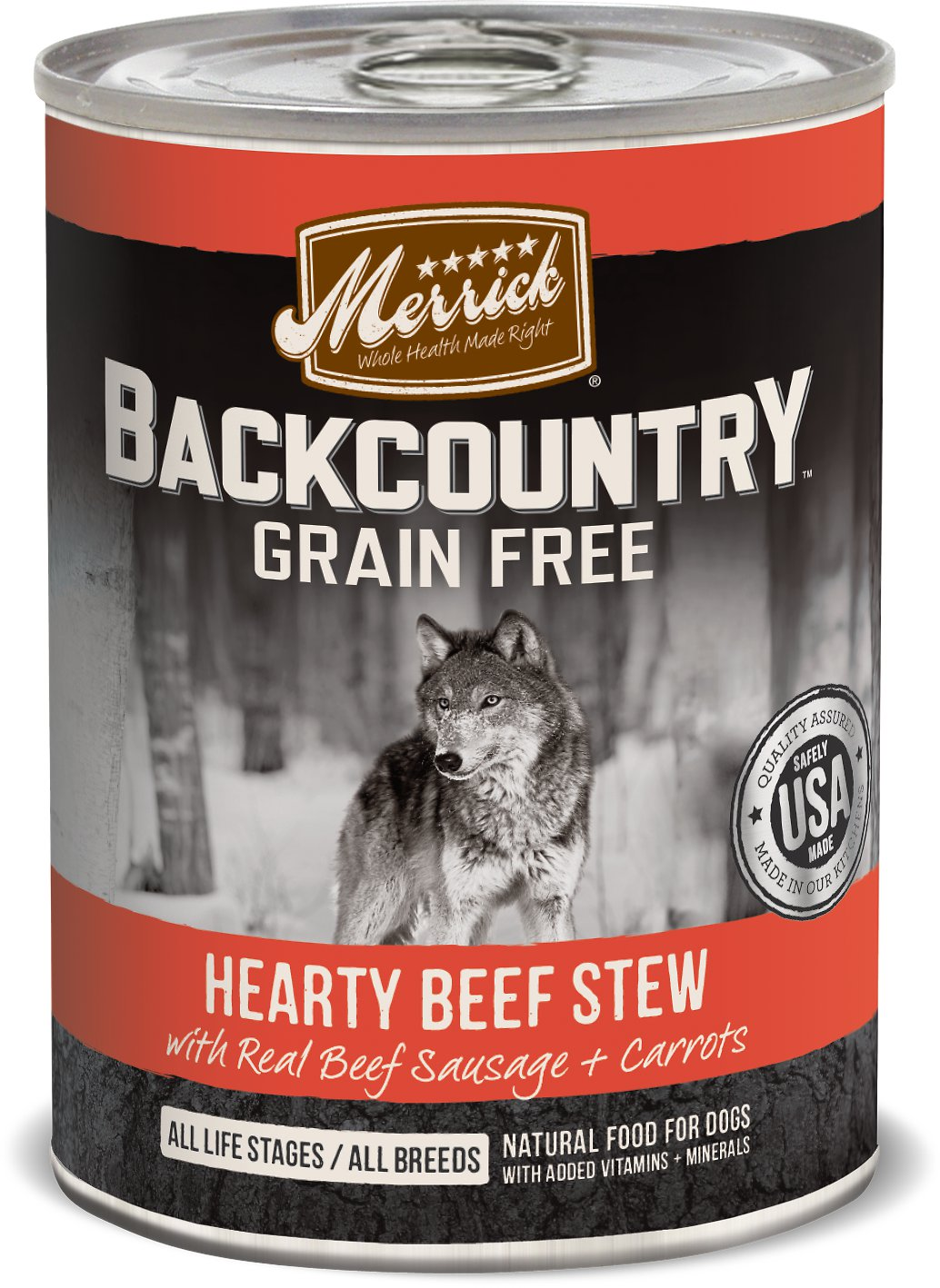 Merrick Backcountry Beef Stew Canned Dog Food 12.7z, 12