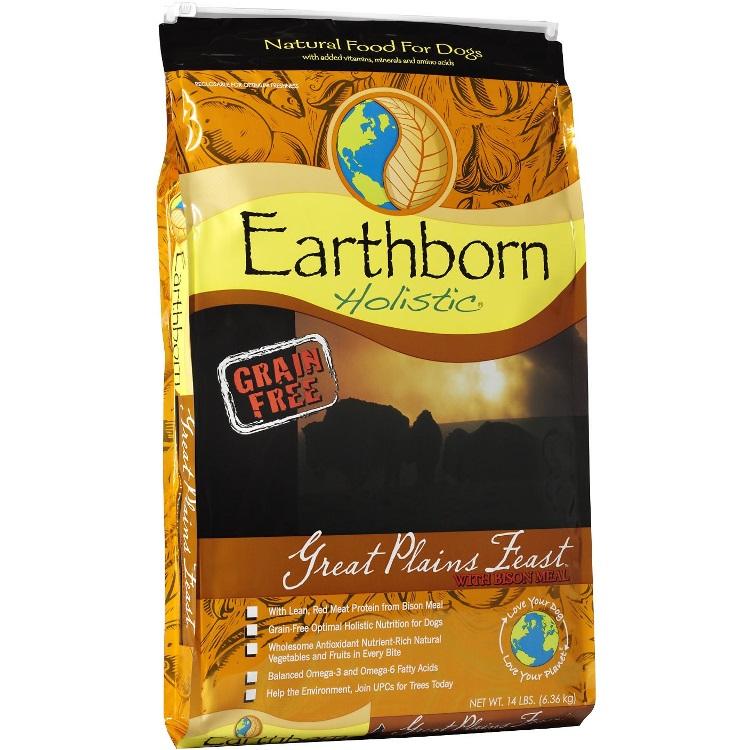 Earthborn Holistic Great Plains Feast Grain-Free Natural Dry Dog Food 14lbs