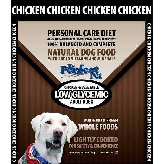 My Perfect Pet Low Glycemic Blend Chicken & Vegetable Frozen Dog Food 3.5lbs