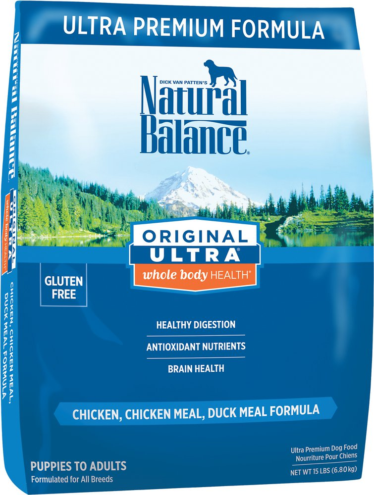 Natural Balance Original Ultra Whole Body Health Chicken, Chicken Meal & Duck Meal Formula Dry Dog Food 15lbs