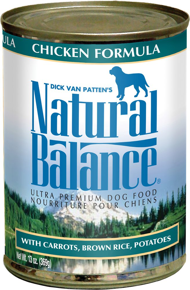 Natural Balance Ultra Premium Chicken Formula Canned Dog Food 13.2z, 12
