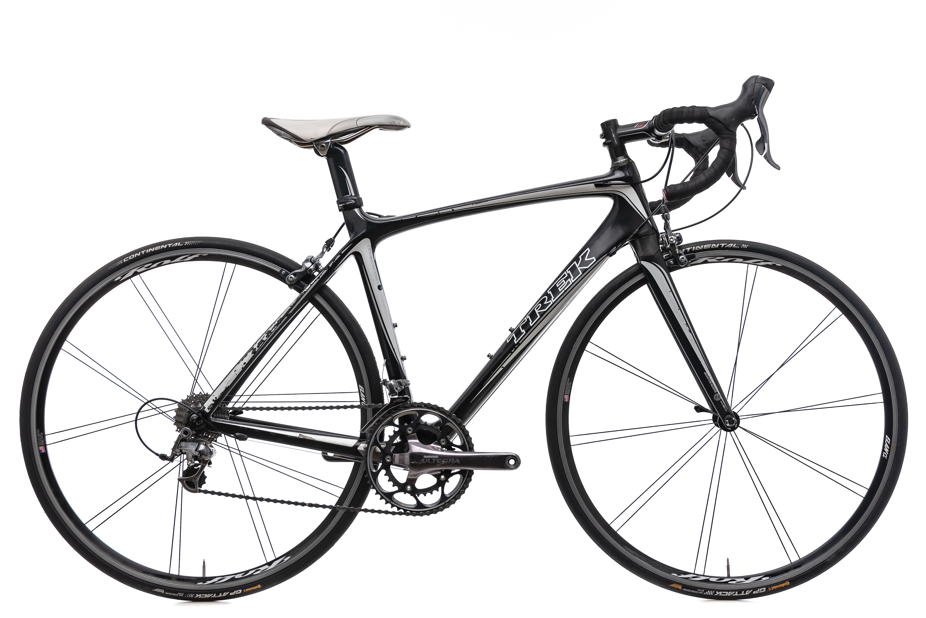 6907cae05b8 2008 Trek Madone 5.2 Road Bike 52cm Carbon Shimano Ultegra 10s Rolf Elan  Alpha