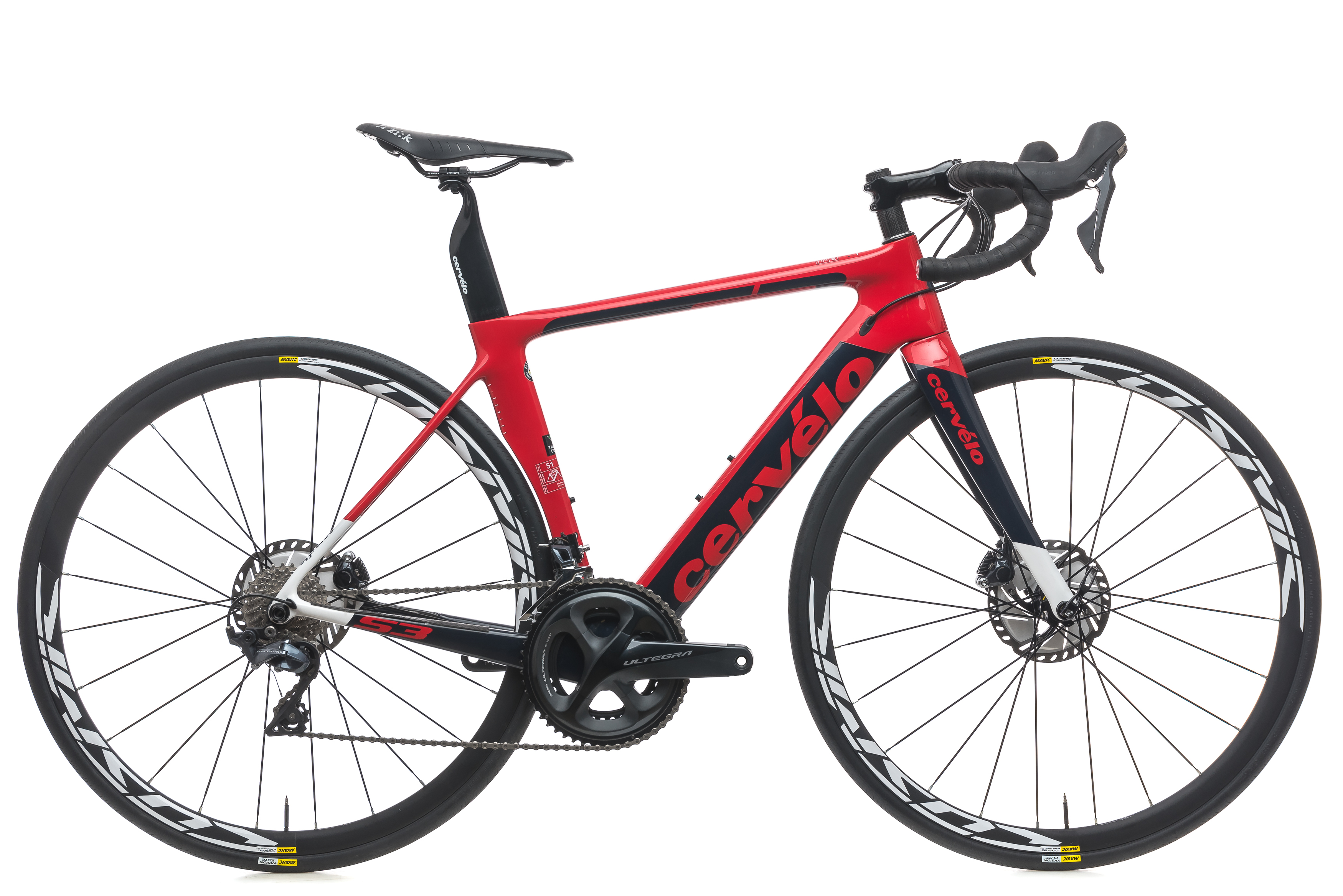 1550ddddc44 2018 Cervelo S3 Disc Road Bike 51cm Carbon Shimano Ultegra 11s Mavic Cosmic