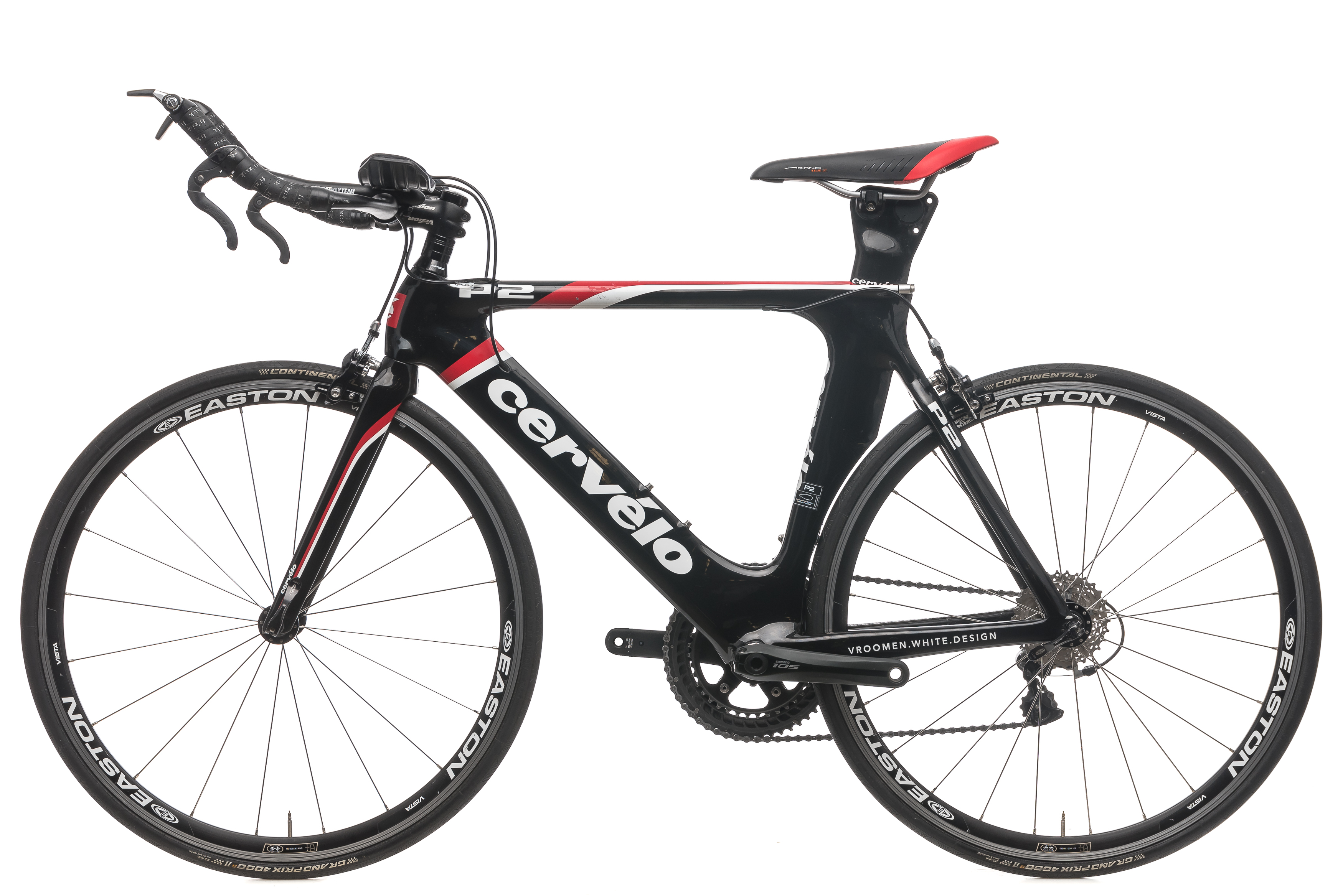 7770f415f26 2012 Cervelo P2 TT Triathlon Bike 48cm 650c Carbon Shimano Ultegra 10s  Easton