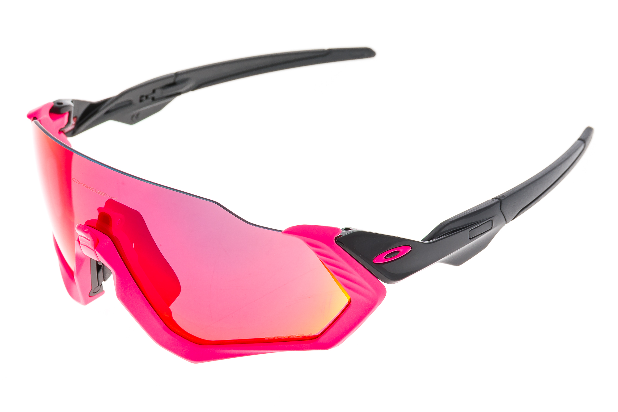 480a5042d0 Details about Oakley Flight Jacket Neon Pink Prizm Road