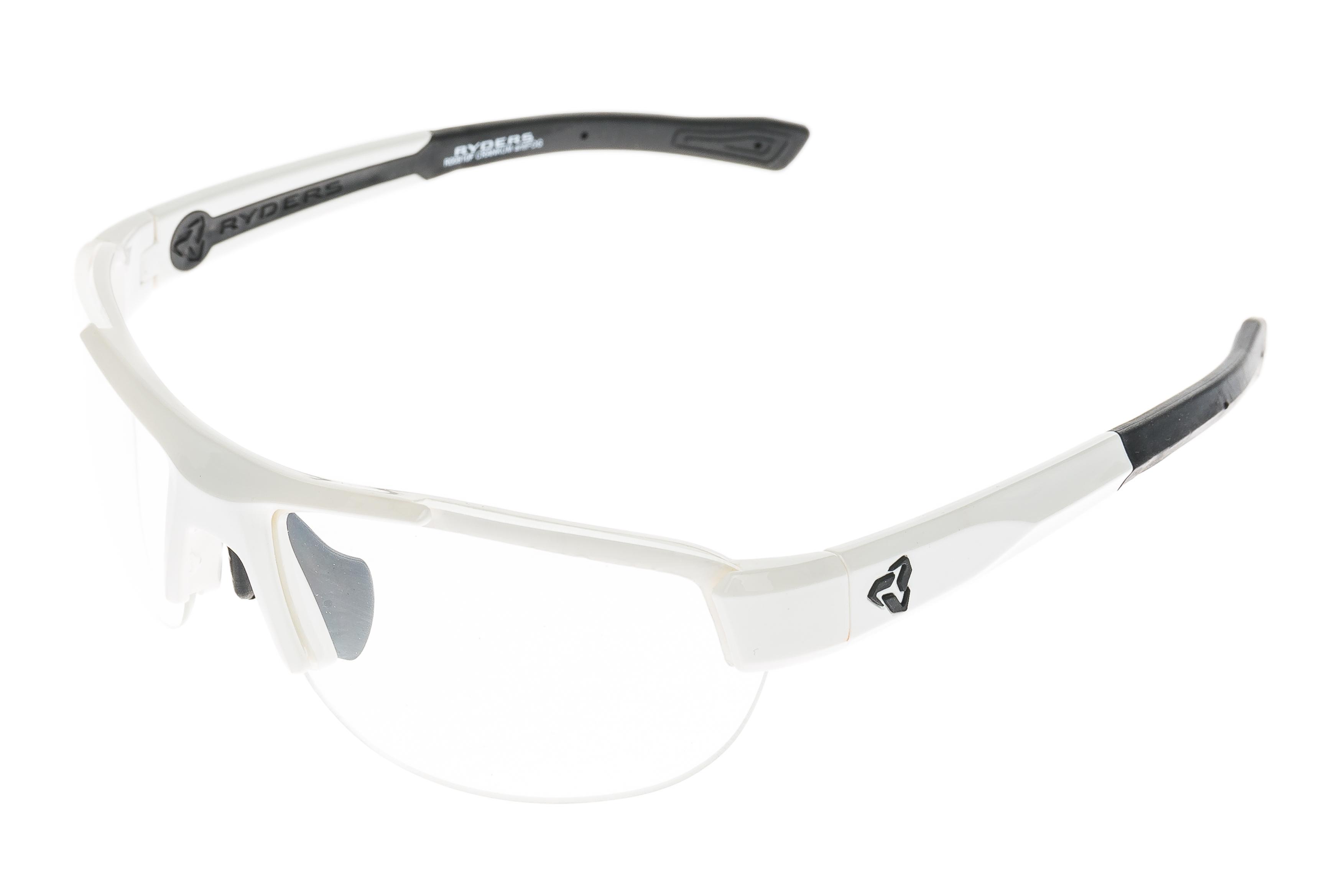 894a56499e6 Details about Ryder Crankum Sunglasses Polished White Frame Clear Anti-Fog  Lens - Excellent