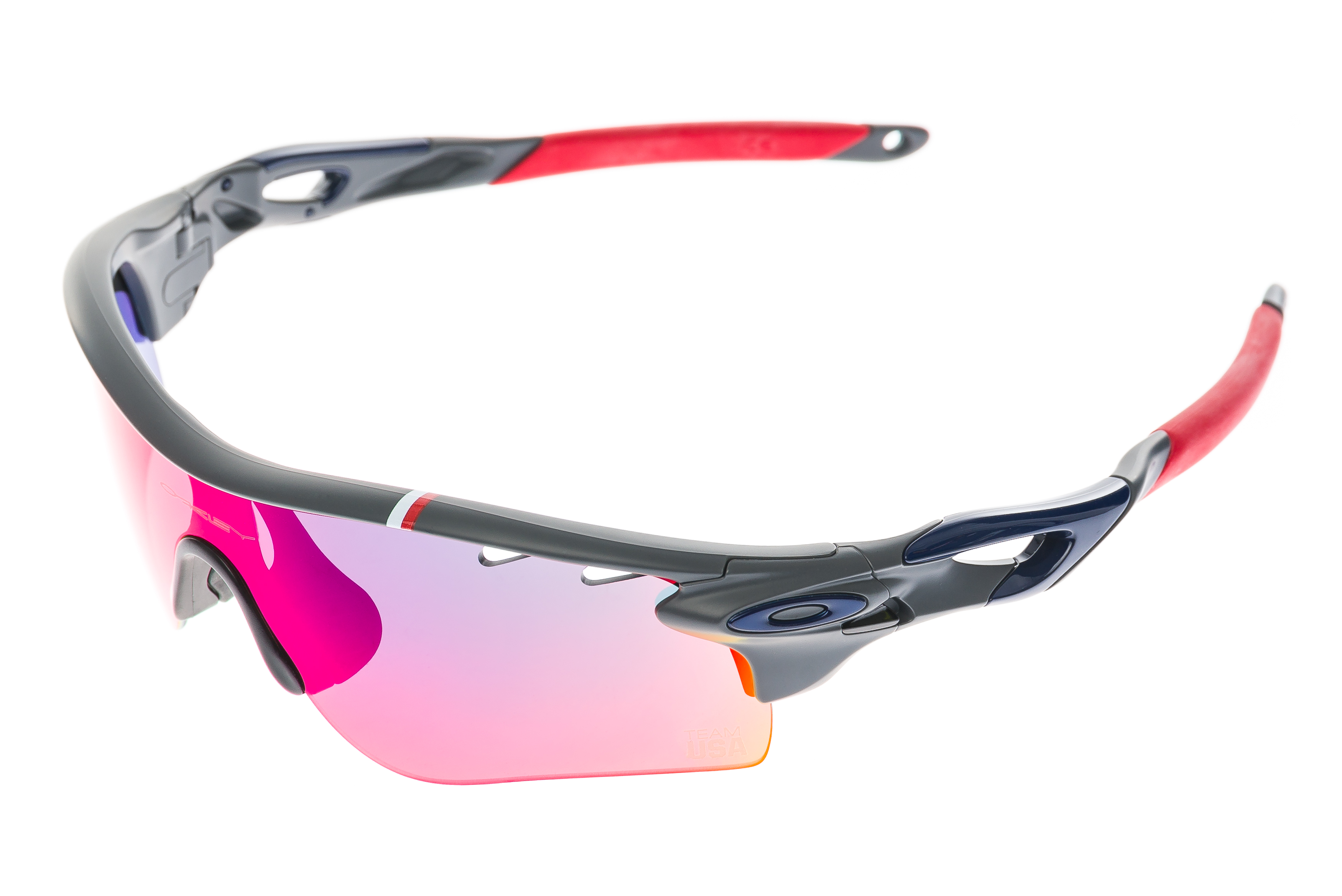 8dccc44a7f Details about Oakley Radarlock Path Team USA Sunglasses Gray Frame Red  Iridium   Gray Lenses