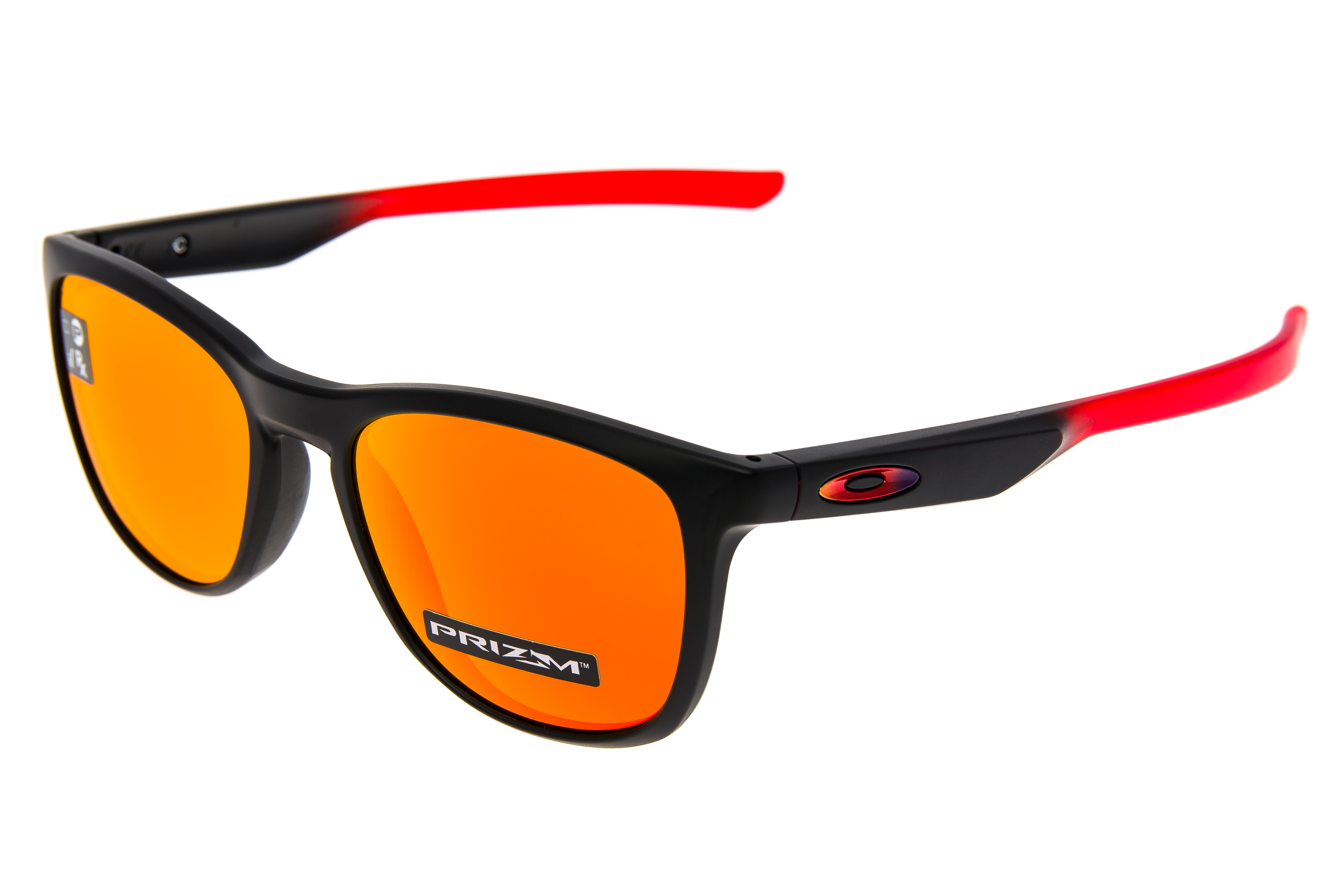 fbce851b559 Details about Oakley Trillbe X Sunglasses Matte Ruby Fade Frame Prizm Ruby  Lens