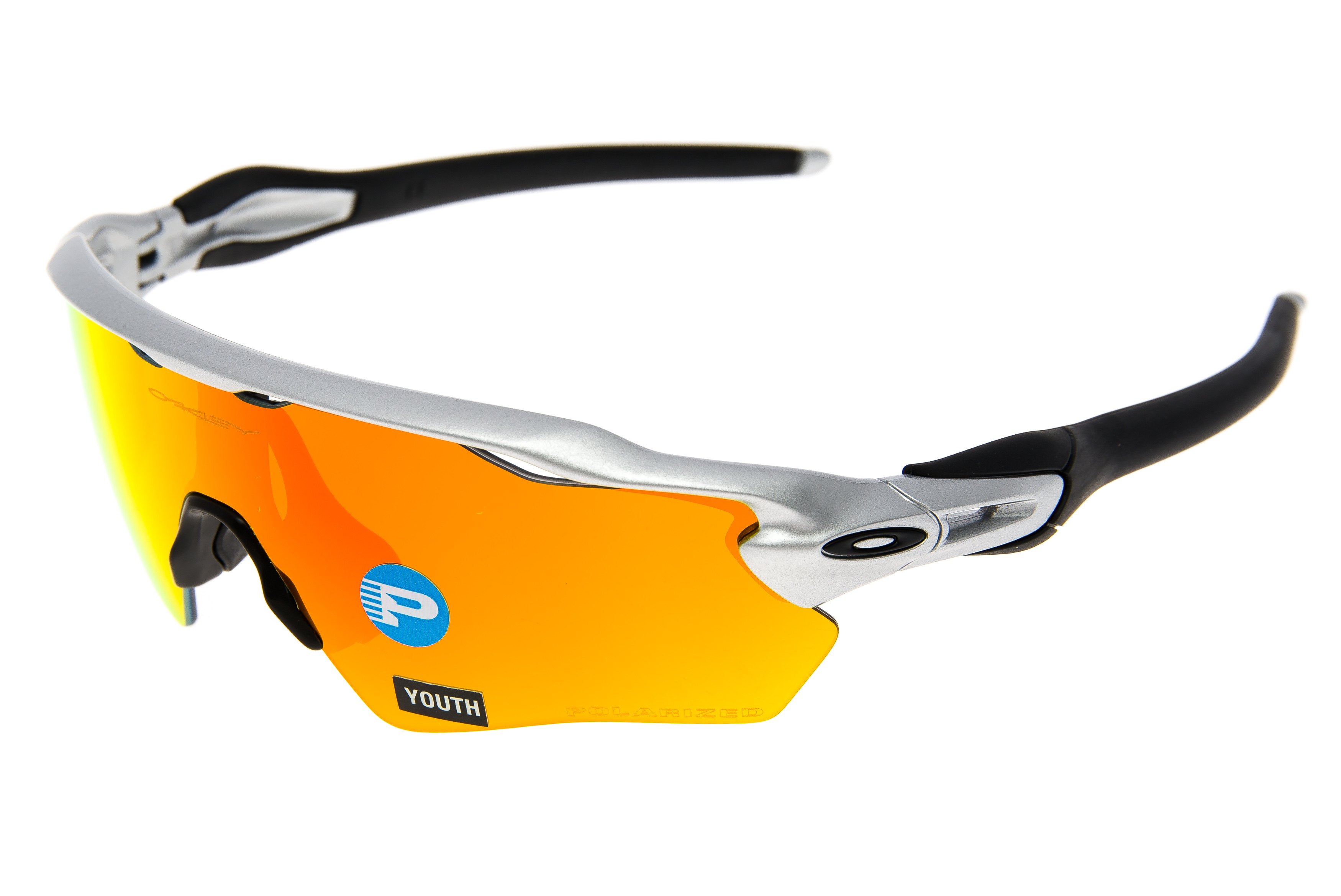 d22d6446fd2 Details about Oakley Radar EV XS Path Youth Sunglasses Silver Frame  Polarized Lens - Excellent