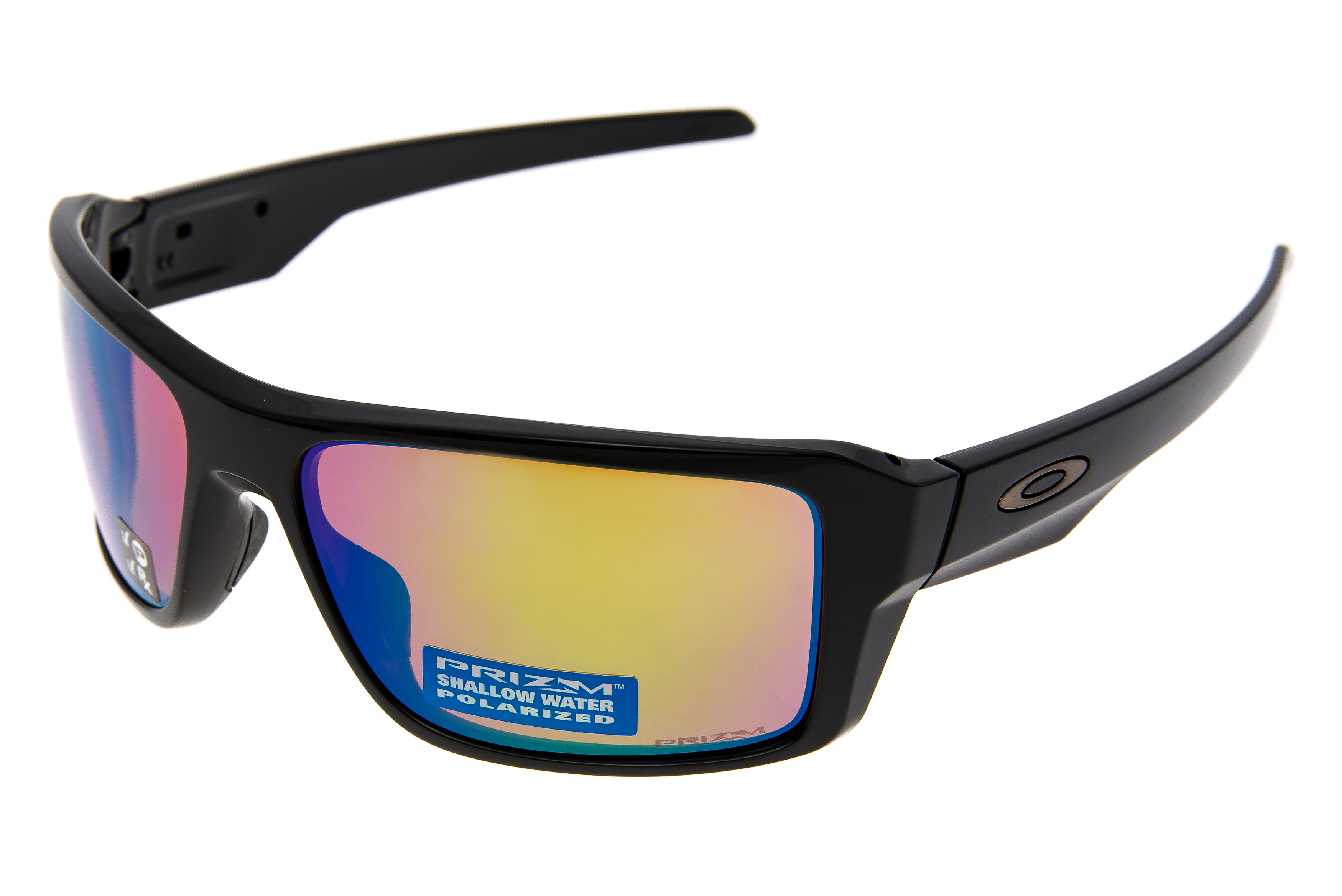 561a46faa3 Details about Oakley Double Edge Sunglasses Gloss Black Frame Prizm  Polarized Lens - Excellent