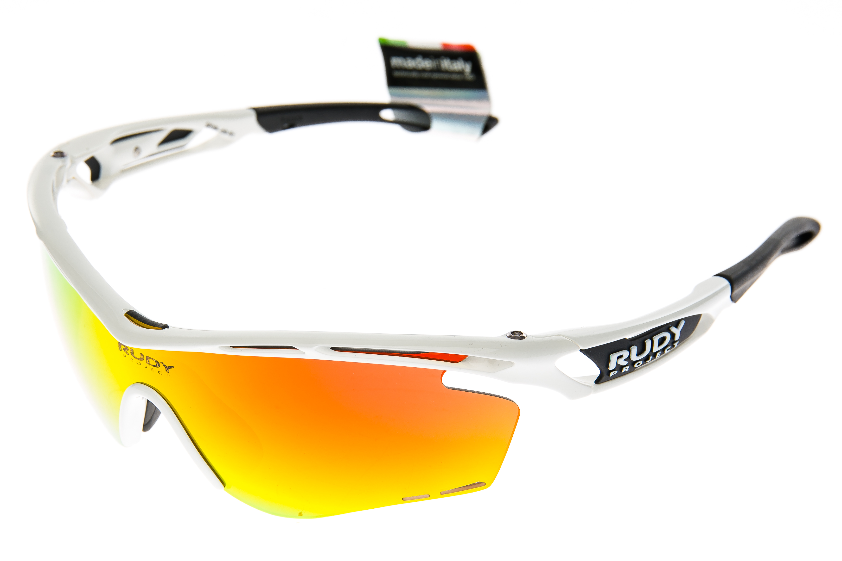 973506493d Details about Rudy Project Tralyx LTD Sunglasses White Gloss Frame  Orange Clear Lenses