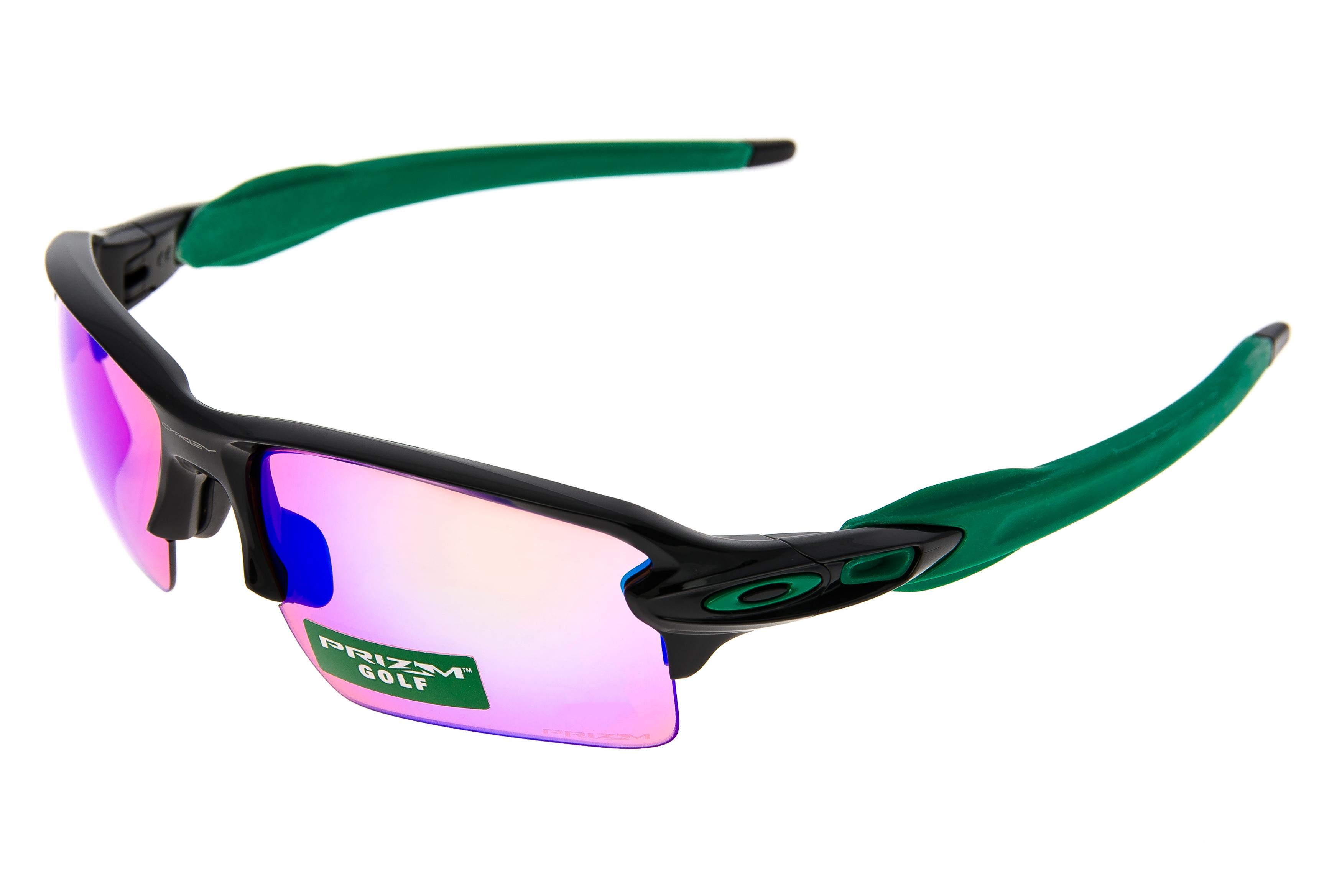 268b6a5bc08 Oakley Flak 2.0 Sunglasses Black Green Frame Prizm Golf Lens