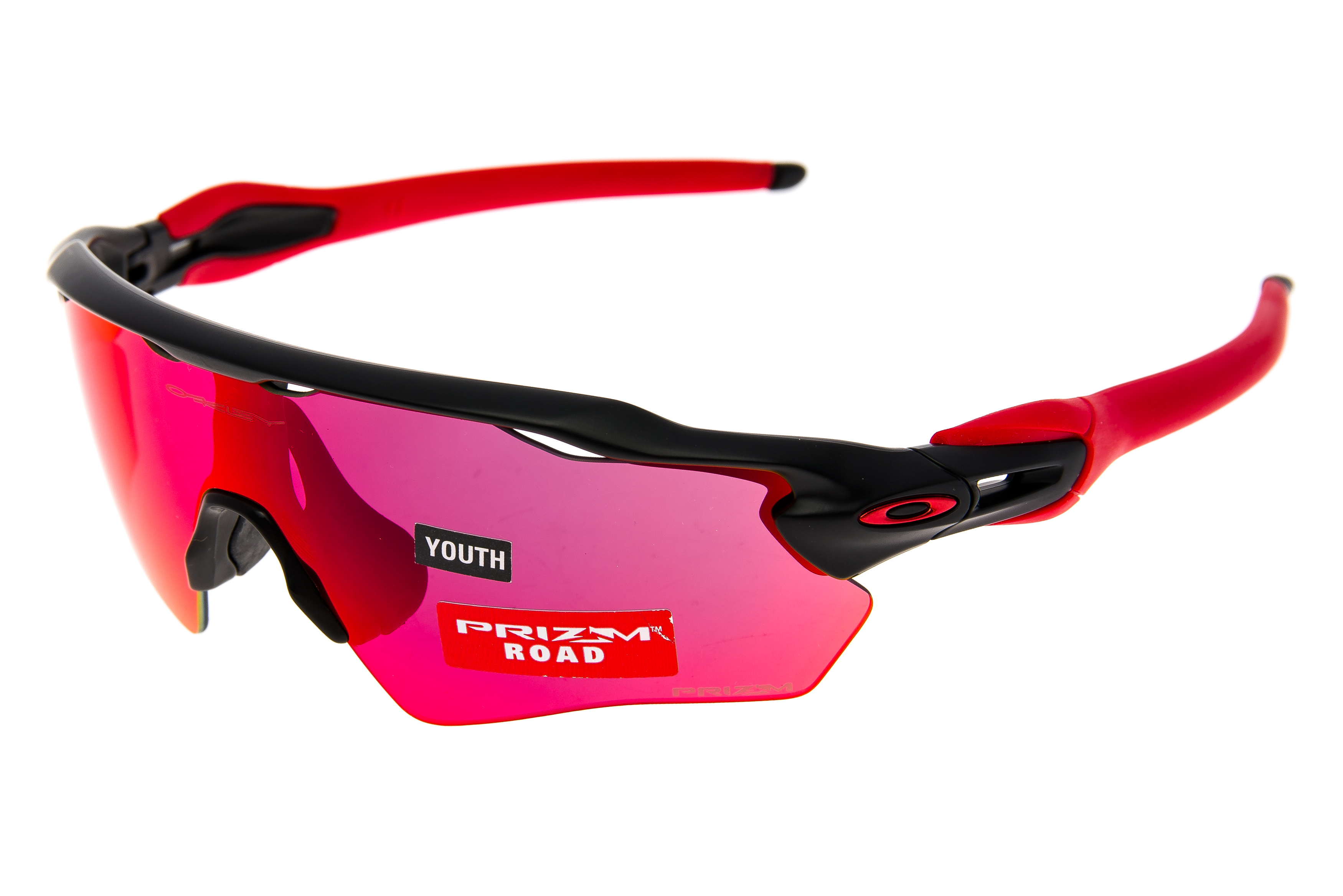 f22e1ff18c9 Oakley Radar XS EV Path Sunglasses Black Red Frame Prizm Road Lens -  Excellent