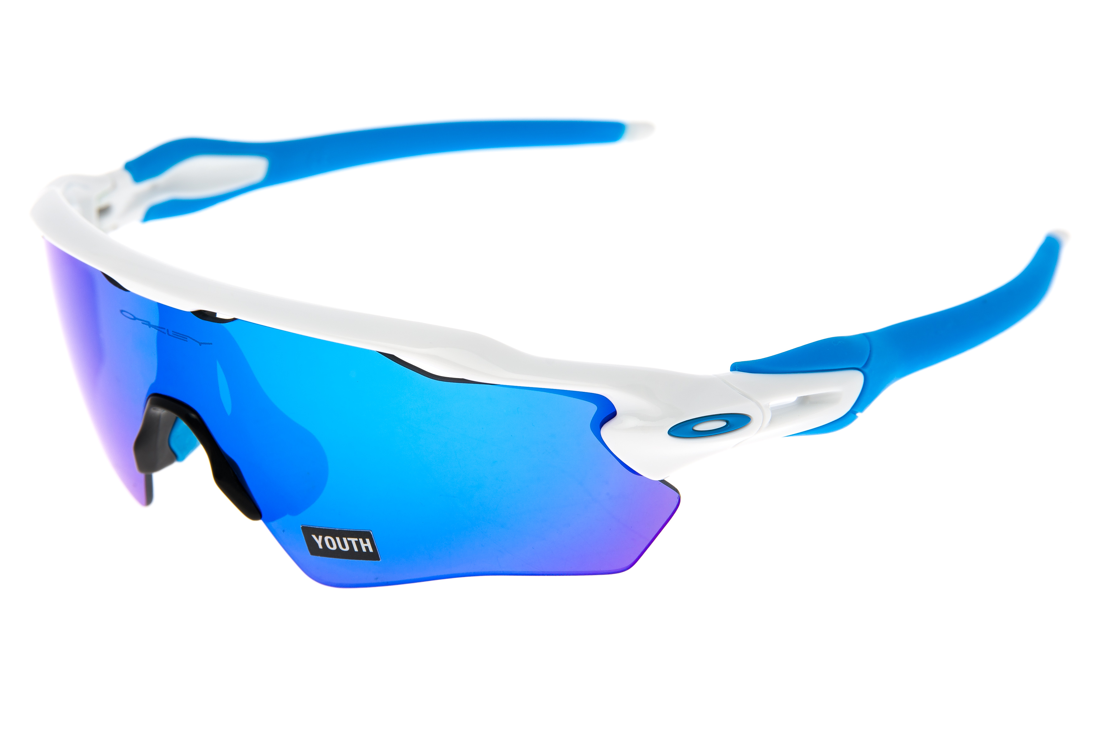 62a75a714ea Details about Oakley Radar EV XS Path Sunglasses White Frame Blue Iridium  Lens - Excellent