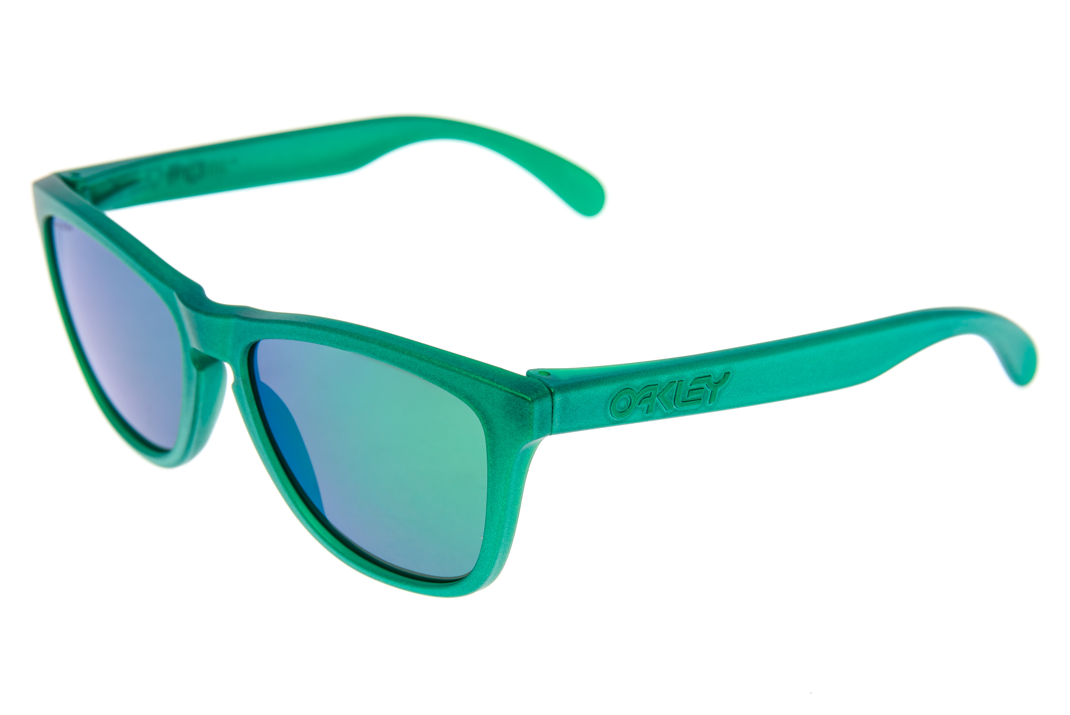 964936d063 Details about Oakley Frogskins Sunglasses Matte Green Frame Prizm Polarized  Lens - Excellent