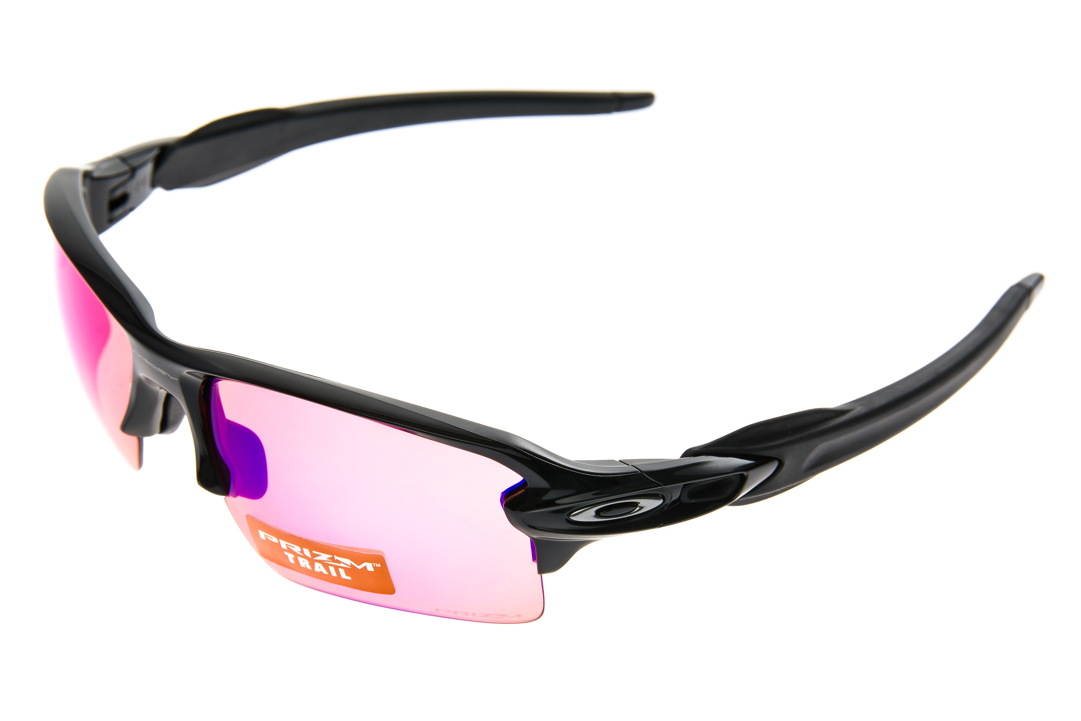 72775e35a1 Details about Oakley Flak 2.0 Sunglasses Polished Black Frame Prizm Trail  Lens