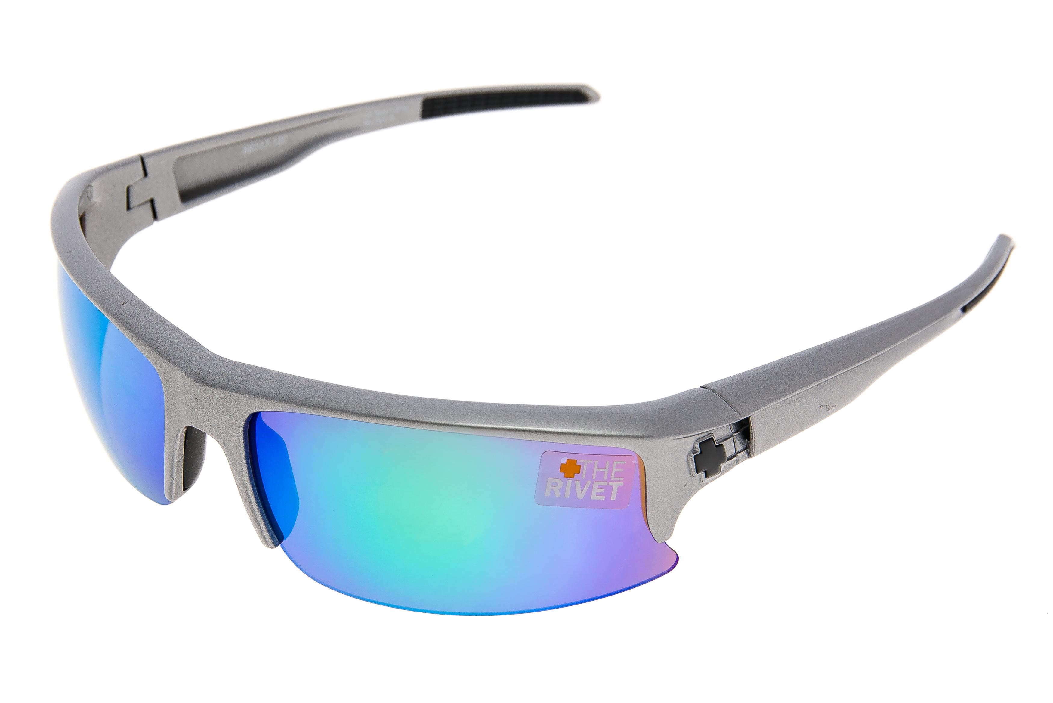 SPY Rivet Sunglasses Matte White Frame Bronze w// Blue Spectra Lens