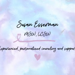 Susan Esserman, MSW, LCSW, Licensed Clinical Social Worker in Midland Park, NJ