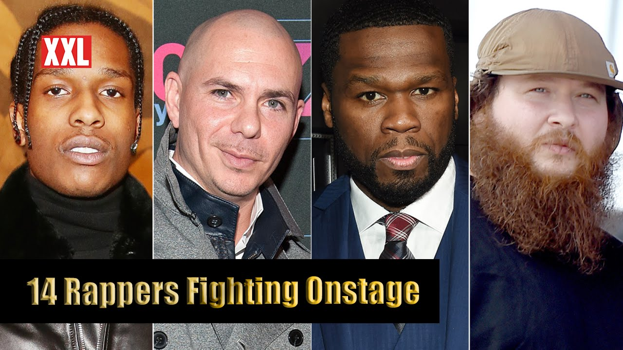 14 Rappers Fighting Onstage – YouTube